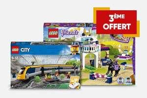 Lot de 2 jouets Lego City ou Friends achetés = 1 offert (le moins cher)