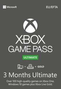 Abonnement de 3 Mois au Xbox Game Pass Ultimate (Dématérialisé)
