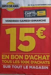 [Carte Fidélité BricoBonus] 15€ en bon d'achat tous les 100€ d'achats sur tout le magasin - Laon (02)