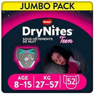 Pack de 52 Sous-vêtements de nuitHuggies DryNites - 8-15 ans, Fille