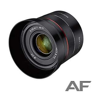 Objectif photo Samyang AF 45 mm F1.8 Sony FE Objectif Plein Format