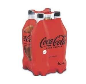 Lot de 4 bouteilles de Coca-Cola sans sucres - 4 x 1L