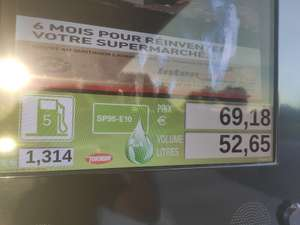 Carburant Essence SP 95 E10 à 1.314€ (le L) - Jayat (01)