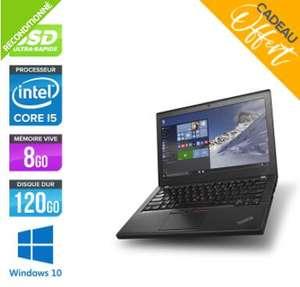 "PC Portable 12.5"" Lenovo Thinkpad X260 - HD, I5 6200U, 8 Go RAM, 120Go SSD, Windows 10 (Reconditionné)"