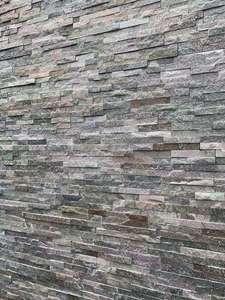 Plaquette de parement Quartz en pierre naturelle - 10 x 36 cm (le m² à 29,89€)