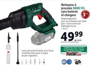 Nettoyeur à Pression sans fil Parkside - sans batterie ni chargeur