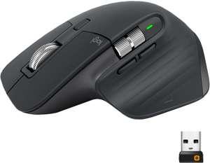Souris sans-fil Logitech MX Master 3 - 7 boutons, 4000 dpi, noir, défilement rapide