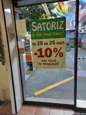 10% de réduction sur tout le magasin - Satoriz Saint-Martin-d'Hères (38)