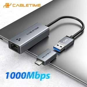 [Nouveaux clients] Adaptateur Ethernet RJ45 > USB 3.0 CableTime C358 - 1000 Mbps