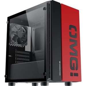 Boitier PC Xigmatek OMG! - mAtx, Noir / Rouge