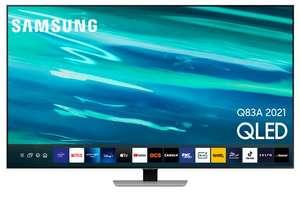 """TV 65"""" Samsung QE65Q83A (2021) - 4K, QLED, Quantum HDR, Dalle 100Hz, HDMI 2.1, FreeSync Premium, argent"""