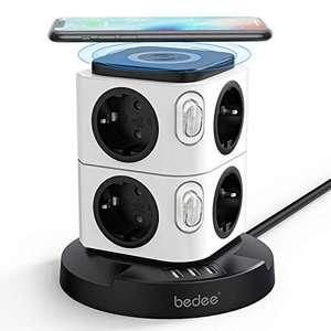 Tour Multiprise Parafoudre Bedee avec Chargeur sans Fil - 8 prises + 3 ports USB (vendeur tiers)