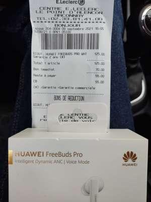Écouteurs intra-auriculaires sans-fil Huawei FreeBuds Pro (blanc) - Arçonnay (72)