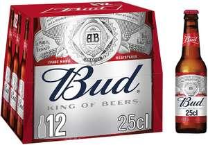 Lot de 2 packs de 12 bières blondes Bud - 24x25 cl (via 4.9€ sur la carte de fidélité + Coupon Network + Igraal Market + Quoty)