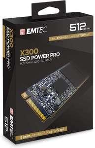 SSD interne M.2 NVMe Emtec X300 Power Pro (TLC 3D) - 512 Go (Jusqu'à 2000-1000/s en Lecture-Écriture)