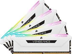 Kit de mémoire Vengeance RGB Pro SL (CMH32GX4M4E3200C16W) 32 Go (4 x 8 Go) DDR4-3200 CL16 – Blanc