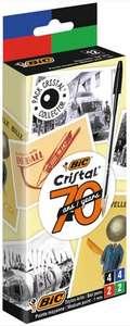 Lot de 12 stylos à bille Bic Cristal assortis édition limitée 70 ans (via 2.72 € sur la carte fidélité)