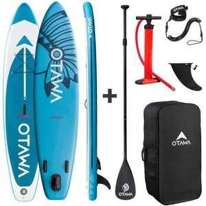 Stand up paddle gonflable Otawa Irokoi - 330x75x15 cm - pagaie, sac, pompe et leash inclus (Vendeur tiers)