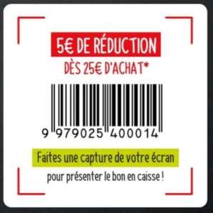 5€ de réduction dès 25€ d'achat - Bry sur Marne (94)