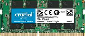 Kit Mémoire Crucial Ram SoDimm 4Go DDR4 2400 MHz CL17 (CT4G4SFS824A)
