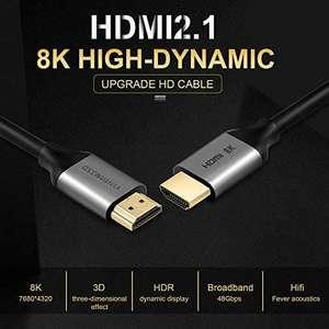 Câble HDMI 2.1 ANNNWZZD - 8K UHD, 1 m à 5.19€, 2 m à 6.89€ ou 3 m à 8.59€ (vendeur tiers, expédié Amazon)