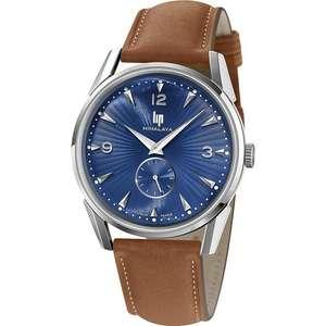 Montre analogique LIP Himalaya 671543 (Bleu, 40 mm, bracelet en cuir) - Tempka.com