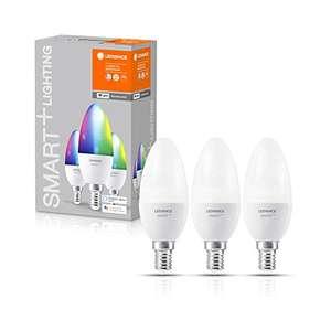 Pack de 3 ampoules LED E14 Ledvance Smart+ Lightning RGBW (Vendeur Tiers)