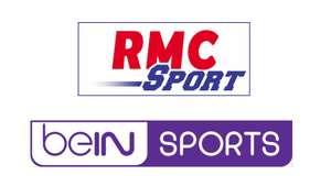 Abonnement mensuel aux chaînes RMC Sport + beIN Sports - pendant 12 mois (engagement 1 an)