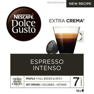 Lot de 3 boites de 16 capsules de café Nescafé Dolce Gusto Espresso Intenso (plusieurs variétés)
