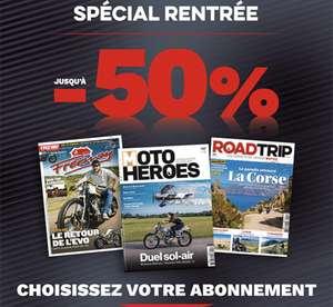 Abonnement de 1 an aux magazines Freeway, Moto Heroes et Road Trip (22 numéros) - heroesmedia.fr