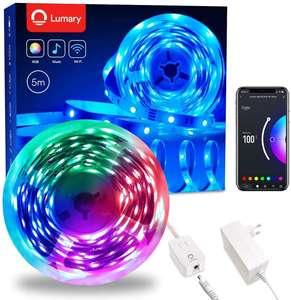Ruban LED connecté Lumary Strip Kit RGB+W - 5 m, étanche IP44 (via coupon - vendeur tiers)