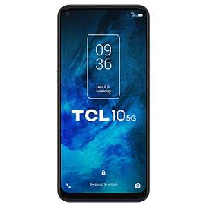 "Smartphone 6.53"" TCL 10 5G - FHD+, Snapdragon 765G, 6 Go RAM, 128 Go, 4500 mAh, Charge 18W - Bleu"