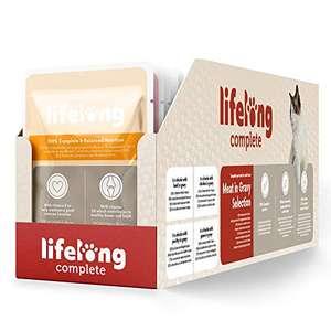 Lot de 24 sachets de Viande en sauce pour chats adultes Lifelong - 100g