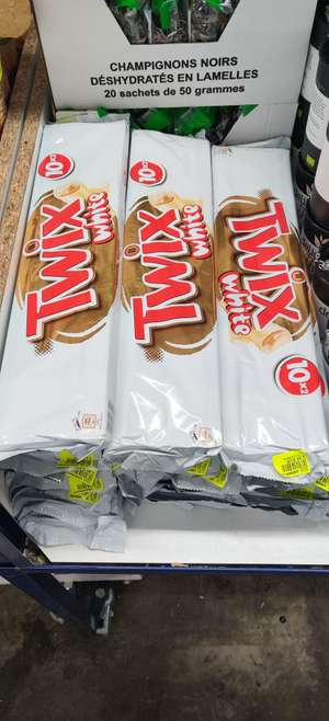 Barres chocolatées Twix White (10x2)