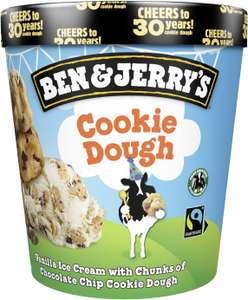 Pot de crème glacée Ben & Jerry's - Différents parfums, 406 g (via BDR de 1€)