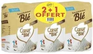 Lot de 3 paquets de 1kg de farine Cœur de Blé (3x 1 Kg)