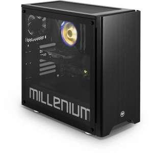 PC Gamer Millenium MM1S ATX Riven - Ryzen 5 5600X, RAM 16Go, SSD 480 Go + HDD 1 To, RTX 3070, Windows 10