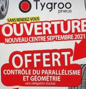 Contrôle Parallélisme, géométrie offerts sans obligation d'achat - Tygroo Pneus Coignières (78)