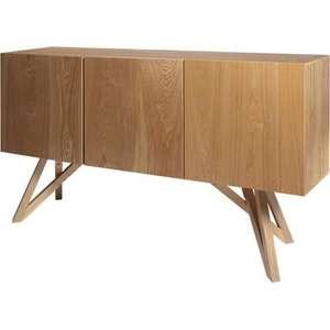 Sélection d'articles en promotion - Ex: Buffet en bois naturel Sawyer - 3 portes, L 160 x P 42 x H 85 cm