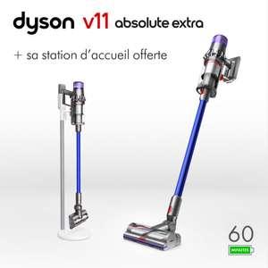 Aspirateur balai sans fil Dyson V11 Absolute Extra + Station d'accueil