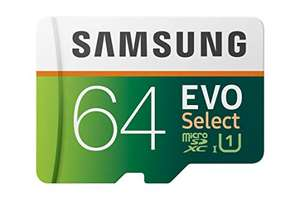 Carte mémoire micro SDXC Samsung Evo Select - 64Go