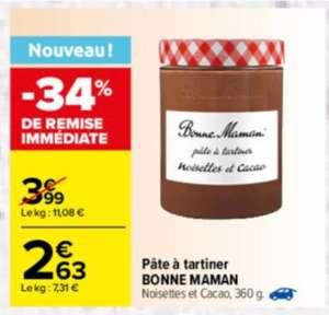 Pâte à tartiner Bonne Maman Noisettes & Cacao - 360g