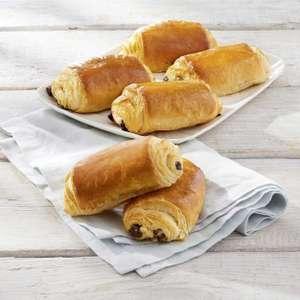 Lot de 6 pains au chocolat pur beurre cuits sur place (360g)