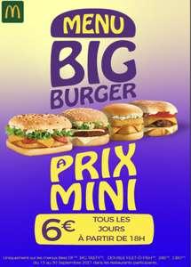 [À partir de 18 h] Sélection de menus Big Burger à 6€ - Toulouse Capitole, Esquirol & Wilson (31)