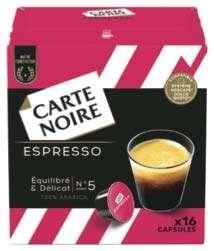 Paquet de 16 capsules de café Carte Noire pour machines Dolce Gusto (plusieurs variétés)
