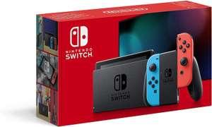 Console Nintendo Switch avec paire de Joy-Con Rouge Néon et Bleu Néon (+20€ sur le compte fidélité pour les adhérents)