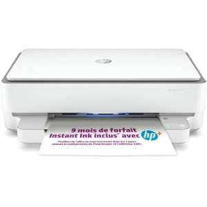 Imprimante jet d'encre HP Envy 6032e - Wifi , Bluetooth, Recto Verso + 9 mois d'abonnement HP instant ink (+2,70€ en RP - vendeur Boulanger)
