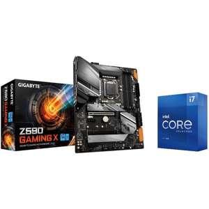 Kit évolution : Processeur Intel Core i7-11700K (3.6/5GHz) + Carte mère Gigabyte Z590 Gaming X