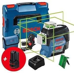 Laser vert connecté Bosch Professional GLL 3-80 CG + L-Boxx + 2 batteries 3Ah 12V + chargeur rapide + cible + support BM1