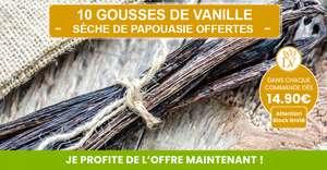 10 Gousses de Vanille Sèche de Papouasie offertes dès 15€ d'achats